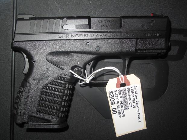 Springfield Armory XDS .45 acp $509